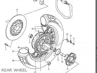 Suzuki Gv1200glf Madura 1985 f Usa e03 Gv1200 Glf Gv1200-glf Rear Wheel