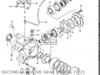 Suzuki Gv1200glf Madura 1985 f Usa e03 Gv1200 Glf Gv1200-glf Secondary Drive Gear model F f2