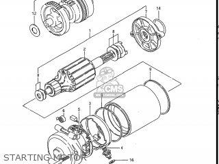 Suzuki Gv1200glf Madura 1985 f Usa e03 Gv1200 Glf Gv1200-glf Starting Motor