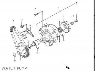 Suzuki Gv1200glf Madura 1985 f Usa e03 Gv1200 Glf Gv1200-glf Water Pump