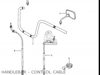 Suzuki Gv1200glf Madura 1985 f Usa e03 Handlebar - Control Cable