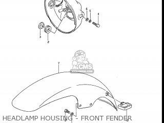 Suzuki Gv1200glf Madura 1985 f Usa e03 Headlamp Housing - Front Fender