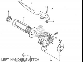 Suzuki Gv1200glf Madura 1985 f Usa e03 Left Handle Switch