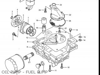 Suzuki Gv1200glf Madura 1985 f Usa e03 Oil Pump - Fuel Pump