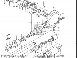 Suzuki Gv1200glf Madura 1985 f Usa e03 Propeller Shaft - Final Drive Gear