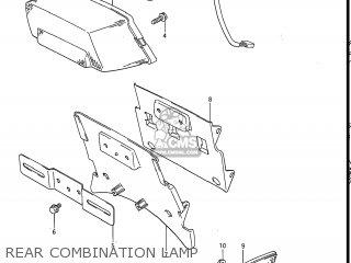 Suzuki Gv1200glf Madura 1985 f Usa e03 Rear Combination Lamp