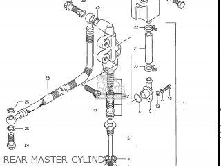 Suzuki Gv1200glf Madura 1985 f Usa e03 Rear Master Cylinder