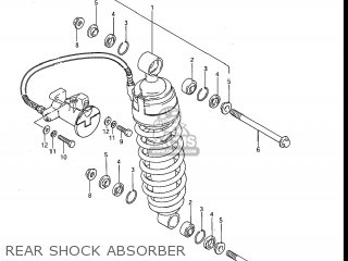 Suzuki Gv1200glf Madura 1985 f Usa e03 Rear Shock Absorber