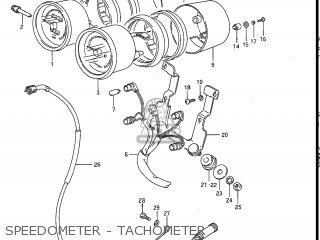 Suzuki Gv1200glf Madura 1985 f Usa e03 Speedometer - Tachometer