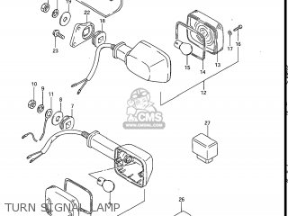 Suzuki Gv1200glf Madura 1985 f Usa e03 Turn Signal Lamp