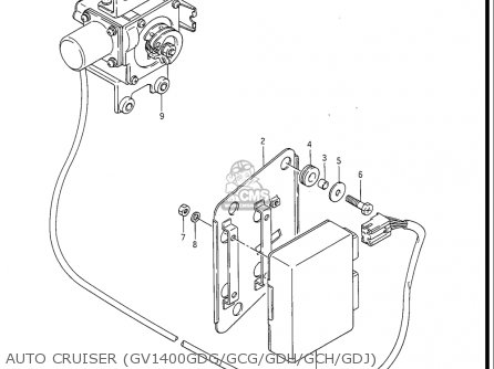 Suzuki Gv1400 Gd  Gt  Gc  1986-1988 usa Auto Cruiser gv1400gdg gcg gdh gch gdj