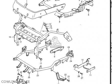 Suzuki Gv1400 Gd  Gt  Gc  1986-1988 usa Cowling Brace