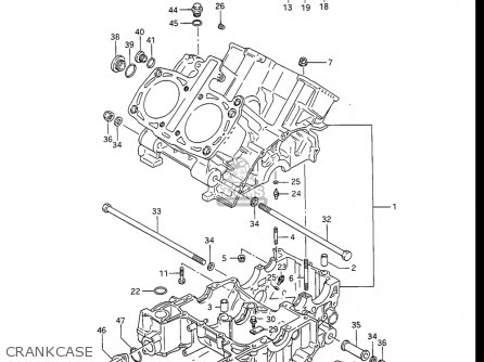 Suzuki Gv1400 Gd  Gt  Gc  1986-1988 usa Crankcase