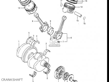 Suzuki Gv1400 Gd  Gt  Gc  1986-1988 usa Crankshaft