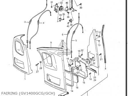 Suzuki Gv1400 Gd  Gt  Gc  1986-1988 usa Fairing gv1400gcg gch