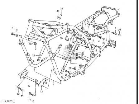 Suzuki Gv1400 Gd  Gt  Gc  1986-1988 usa Frame