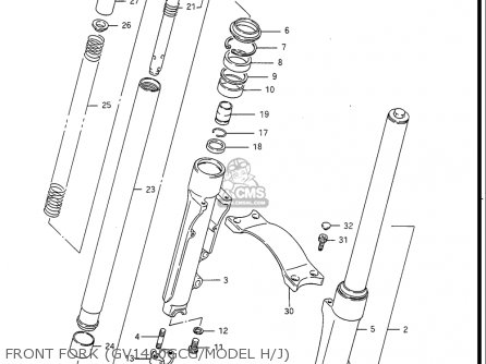 Suzuki Gv1400 Gd  Gt  Gc  1986-1988 usa Front Fork gv1400gcg model H j