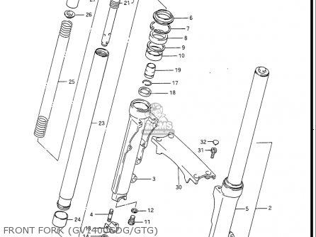 Suzuki Gv1400 Gd  Gt  Gc  1986-1988 usa Front Fork gv1400gdg gtg