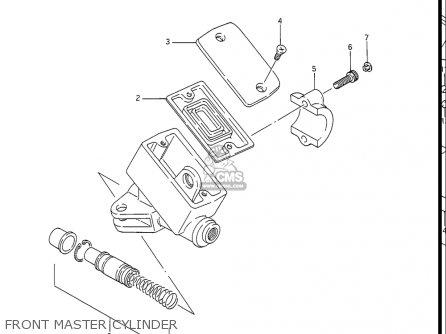 Suzuki Gv1400 Gd  Gt  Gc  1986-1988 usa Front Master Cylinder