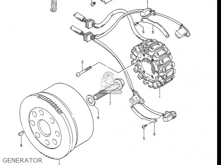 Suzuki Gv1400 Gd  Gt  Gc  1986-1988 usa Generator