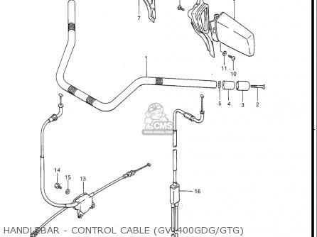 Suzuki Gv1400 Gd  Gt  Gc  1986-1988 usa Handlebar - Control Cable gv1400gdg gtg