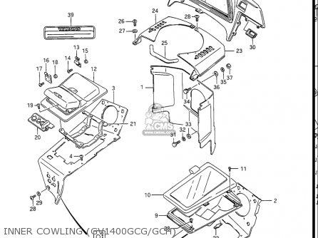 Suzuki Gv1400 Gd  Gt  Gc  1986-1988 usa Inner Cowling gv1400gcg gch
