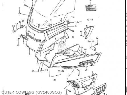 Suzuki Gv1400 Gd  Gt  Gc  1986-1988 usa Outer Cowling gv1400gcg