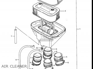 Suzuki Gv1400gc Cavalcade 1986 g Usa e03 Air Cleaner