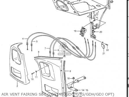 Suzuki Gv1400gc Cavalcade 1986 g Usa e03 Air Vent Fairing Set gv1400gdg gtg gdh gdj Opt