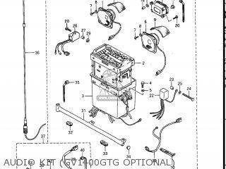 Suzuki Gv1400gc Cavalcade 1986 g Usa e03 Audio Kit gv1400gtg Optional