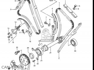Suzuki Gv1400gc Cavalcade 1986 g Usa e03 Cam Chain