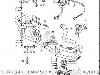 Suzuki Gv1400gc Cavalcade 1986 g Usa e03 Cornering Lamp Set gv1400gdg gtg gdh gdj Opt
