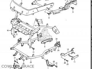 Suzuki Gv1400gc Cavalcade 1986 g Usa e03 Cowling Brace