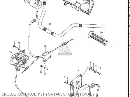 Suzuki Gv1400gc Cavalcade 1986 g Usa e03 Cruise Control Kit gv1400gtg Optional