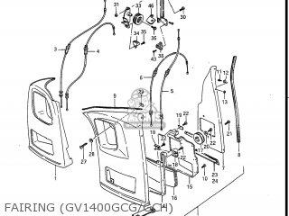 Suzuki Gv1400gc Cavalcade 1986 g Usa e03 Fairing gv1400gcg gch
