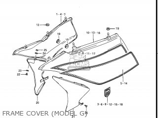 Suzuki Gv1400gc Cavalcade 1986 g Usa e03 Frame Cover model G