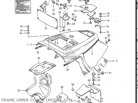 Suzuki Gv1400gc Cavalcade 1986 g Usa e03 Frame Upper Cover model H j