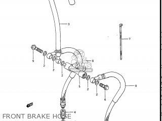 Suzuki Gv1400gc Cavalcade 1986 g Usa e03 Front Brake Hose