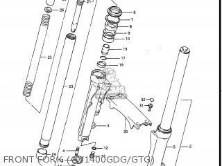 Suzuki Gv1400gc Cavalcade 1986 g Usa e03 Front Fork gv1400gdg gtg