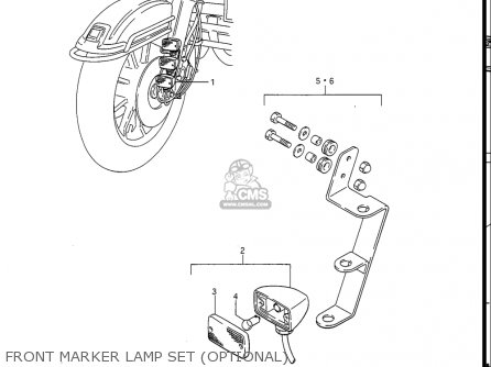 Suzuki Gv1400gc Cavalcade 1986 g Usa e03 Front Marker Lamp Set optional