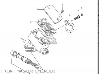 Suzuki Gv1400gc Cavalcade 1986 g Usa e03 Front Master Cylinder