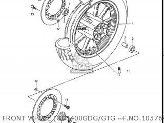 Suzuki Gv1400gc Cavalcade 1986 g Usa e03 Front Wheel gv1400gdg gtg ~f no 103764
