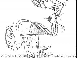 Suzuki Gv1400gc Cavalcade 1986 g Usa e03 Gv1400 Gc Gc1400-gc Air Vent Fairing Set gv1400gdg gtg gdh gdj Opt