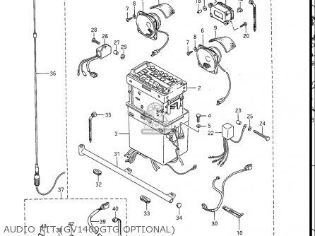 Suzuki Gv1400gc Cavalcade 1986 g Usa e03 Gv1400 Gc Gc1400-gc Audio Kit gv1400gtg Optional