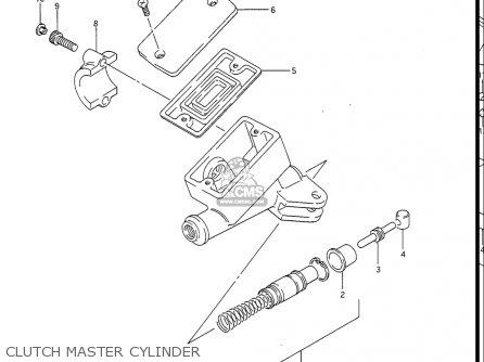 Suzuki Gv1400gc Cavalcade 1986 g Usa e03 Gv1400 Gc Gc1400-gc Clutch Master Cylinder