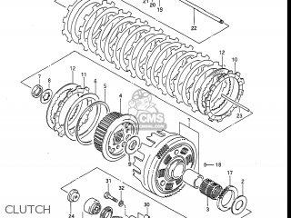 Suzuki Gv1400gc Cavalcade 1986 g Usa e03 Gv1400 Gc Gc1400-gc Clutch