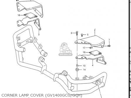 Suzuki Gv1400gc Cavalcade 1986 g Usa e03 Gv1400 Gc Gc1400-gc Corner Lamp Cover gv1400gcg gch