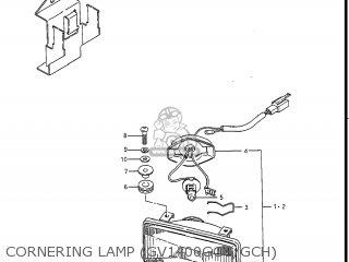 Suzuki Gv1400gc Cavalcade 1986 g Usa e03 Gv1400 Gc Gc1400-gc Cornering Lamp gv1400gcg gch