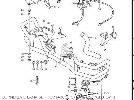 Suzuki Gv1400gc Cavalcade 1986 g Usa e03 Gv1400 Gc Gc1400-gc Cornering Lamp Set gv1400gdg gtg gdh gdj Opt