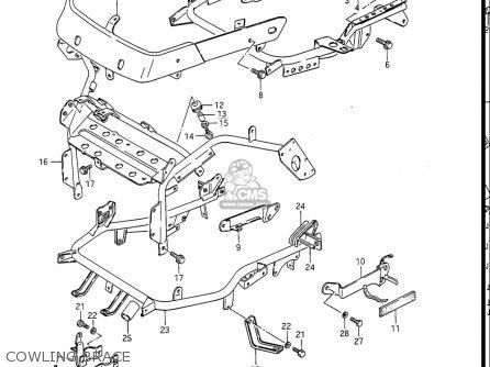 Suzuki Gv1400gc Cavalcade 1986 g Usa e03 Gv1400 Gc Gc1400-gc Cowling Brace